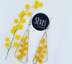 Boucles d'oreilles mimosa
